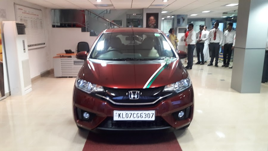 Honda Jazz delivery to our MD's wife, Malini Eapen Ma'am
